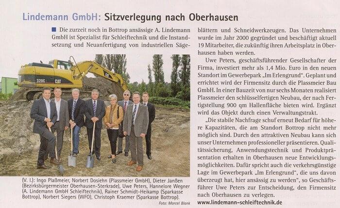 MEO-Magazin – LINDEMANN GmbH verlegt Sitz nach Oberhausen