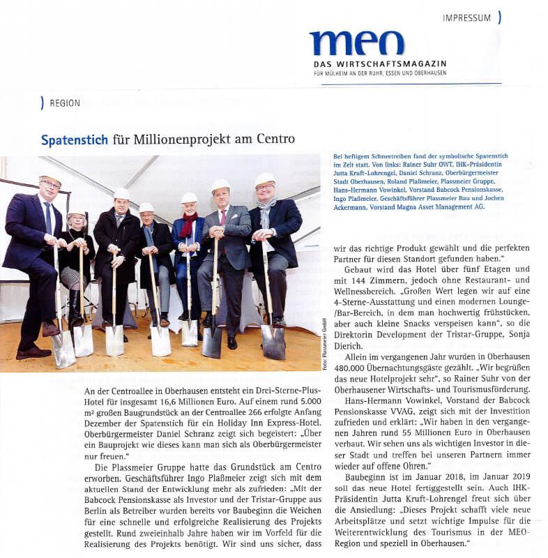 MEO-Magazin – Spatenstich für Millionenprojekt am Centro