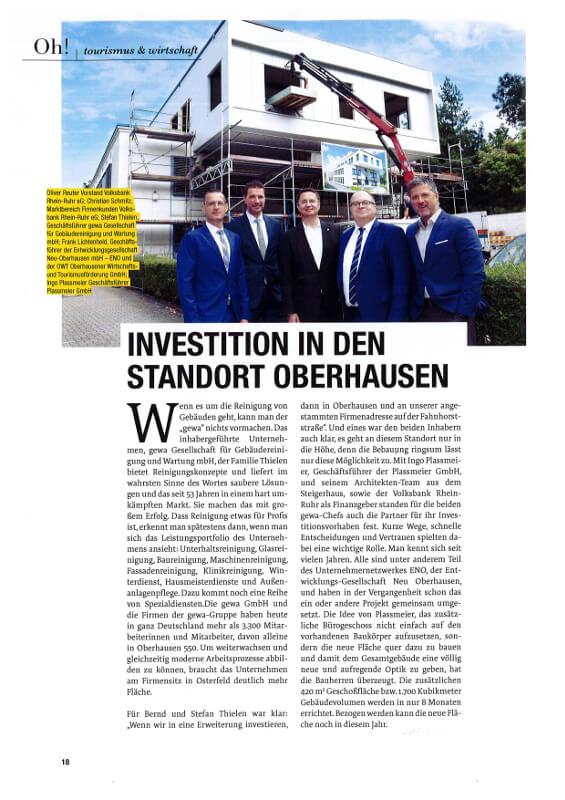 Oh! – Investition in den Standort Oberhausen