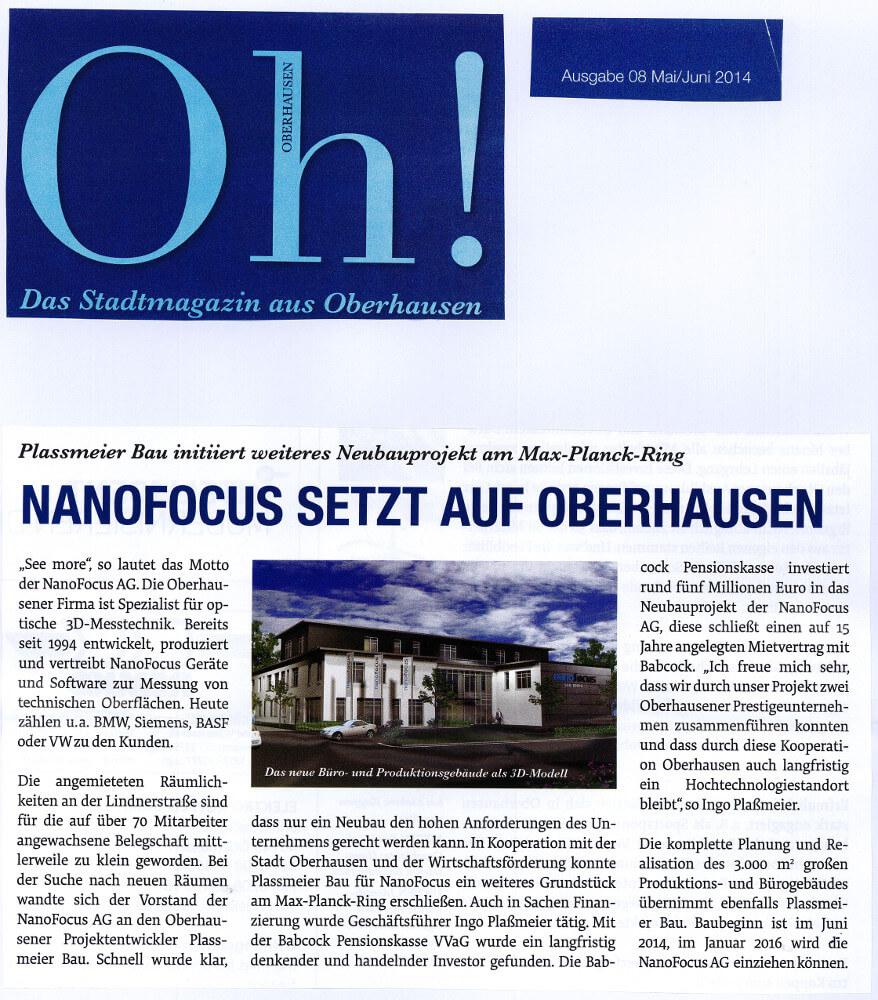 Oh! – Nanofocus setzt auf Oberhausen
