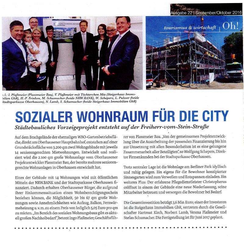Oh! – Sozialer Wohnraum Für Die City