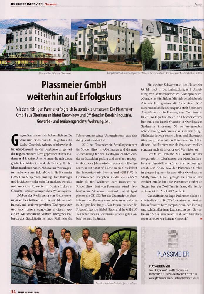 Revier Manager – Plassmeier GmbH weiterhin auf Erfolgskurs