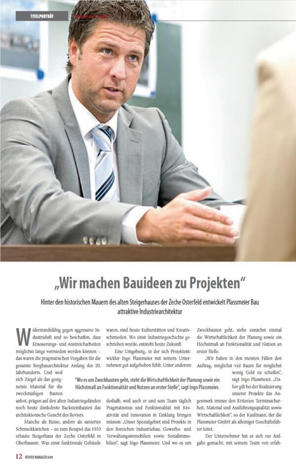 Revier Manager – Titelstory über die Plassmeier GmbH Teil 02