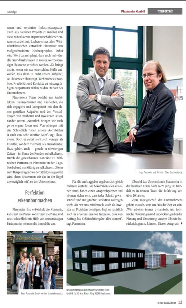 Revier Manager – Titelstory über die Plassmeier GmbH Teil 03