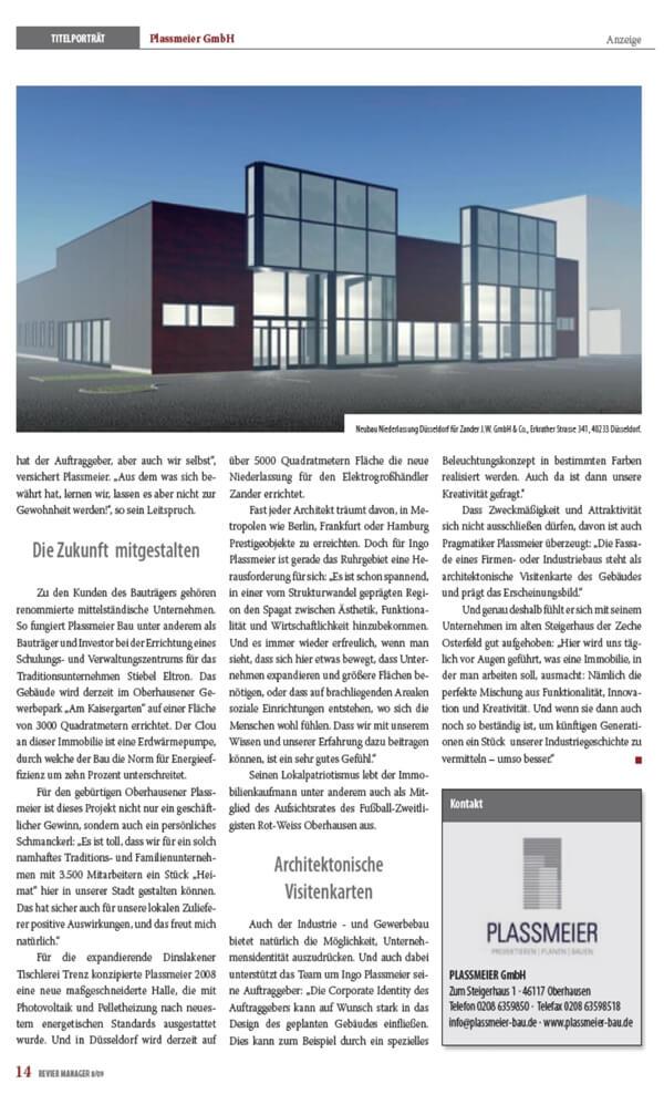 Revier Manager – Titelstory über die Plassmeier GmbH Teil 04