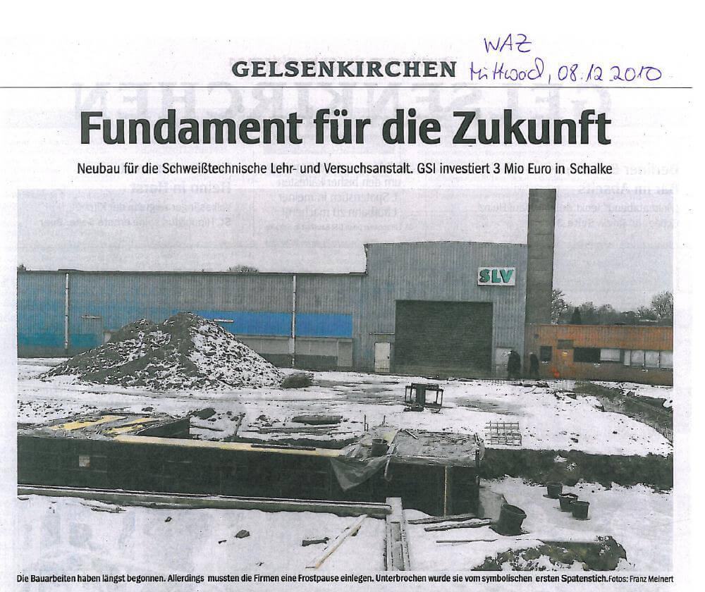 WAZ – Erster Spatenstich zum SLV Bildungszentrum in Gelsenkirchen Teil 01
