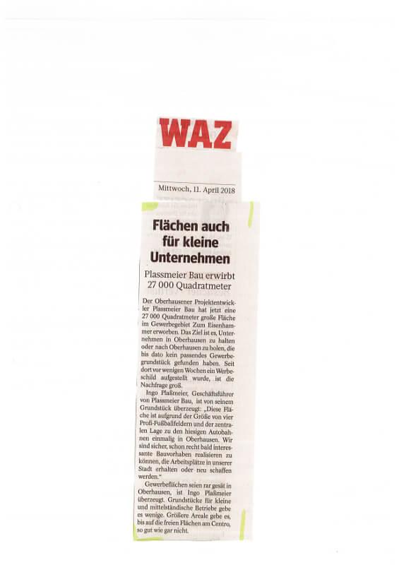 WAZ – Flächen auch für kleine Unternehmen