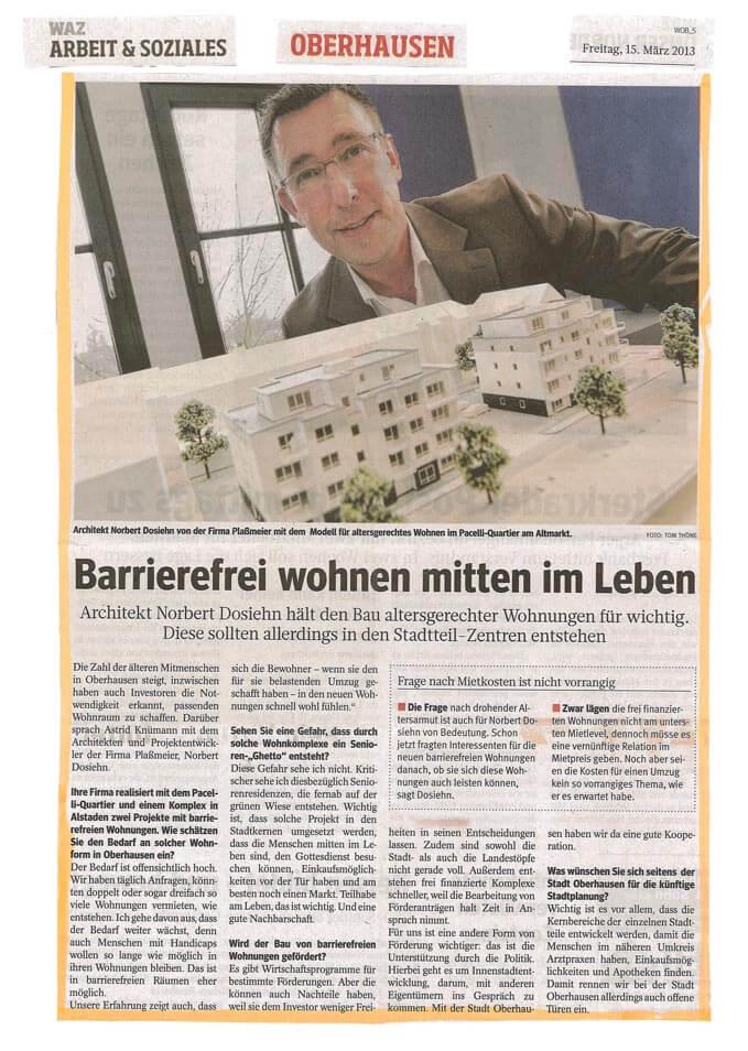 WAZ – Interview mit Norbert Dosiehn