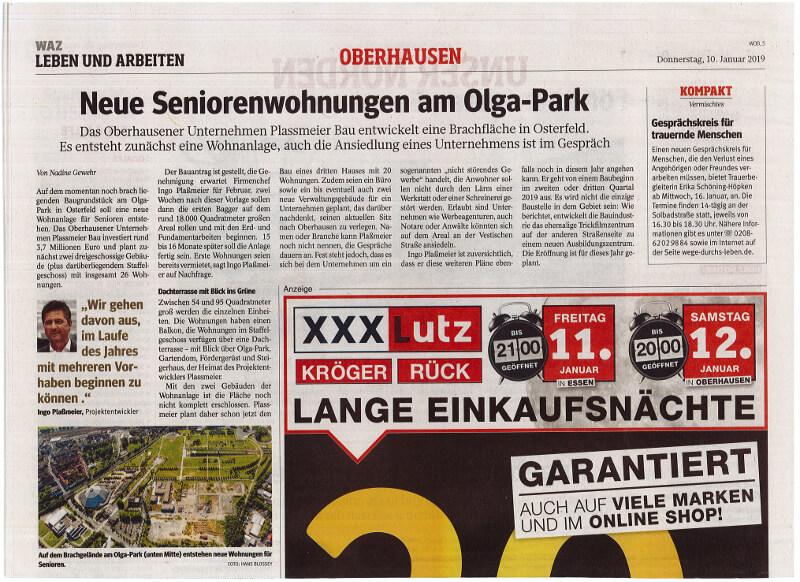 WAZ – Neue Seniorenwohnungen am Olga-Park