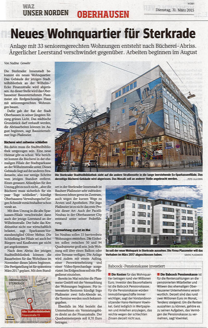 WAZ – Neues Wohnquartier für Sterkrade